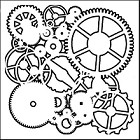 "Crafter's Workshop 12""x12"" Template- Gears"