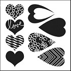 "Crafter's Workshop 12""x12"" Template- Mix&Match Hearts"