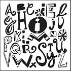 "Crafter's Workshop 12""x12"" Template- Mixed-up Alphabet"