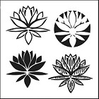 "Crafter's Workshop 12""x12"" Template- Lotus Blossom"