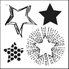 "Crafter's Workshop 12""x12"" Template- Layered Stars"