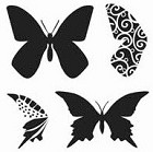 The Crafters Workshop - Templates - 12X12 Layered Butterflies