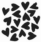 The Crafters Workshop - Templates - 12X12 Spilled Hearts