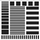 The Crafters Workshop - Templates - 12X12 Stripes