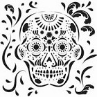 The Crafters Workshop - Templates - 12X12 Mexican Skull