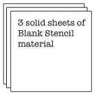 The Crafters Workshop - Templates - 12X12  - 3 Blank Stencil Sheets