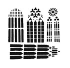 The Crafters Workshop - 12x12 Template - Church Windows