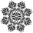 The Crafters Workshop - 12x12 Template - Fleur De Lis Doily