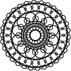 The Crafters Workshop - 12x12 Template - Ring Doily