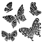 The Crafters Workshop - 12x12 Template - Solid Butterflies