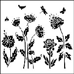 "The Crafter's Workshop 12""x12"" Stencil - Flying Garden"