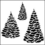 "The Crafter's Workshop 12""x12"" Stencil - Evergreens"