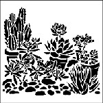 "The Crafter's Workshop 12""x12"" Stencil - Desert Garden"