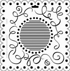 "Crafter's Workshop Templates 12""x12"" Scallop Swirl"
