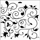 "*Crafter's Workshop Templates 12""x12"" Swirly Vines"