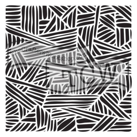 "The Crafter's Workshop 12""x12"" Stencil - Overlapping Stripes"