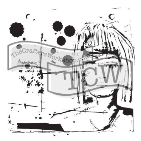 "The Crafter's Workshop 12""x12"" Stencil - Dream Girl"