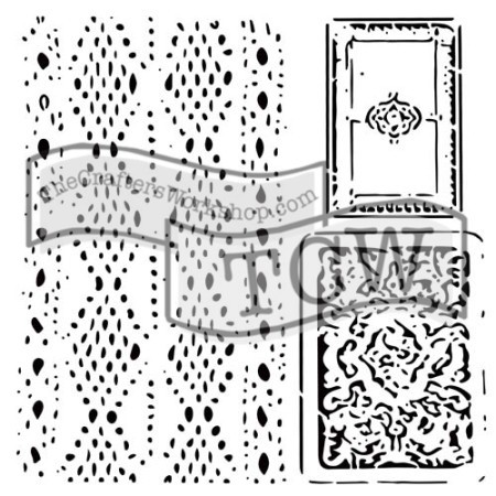 "The Crafter's Workshop 12""x12"" Stencil - Cards and Lace"