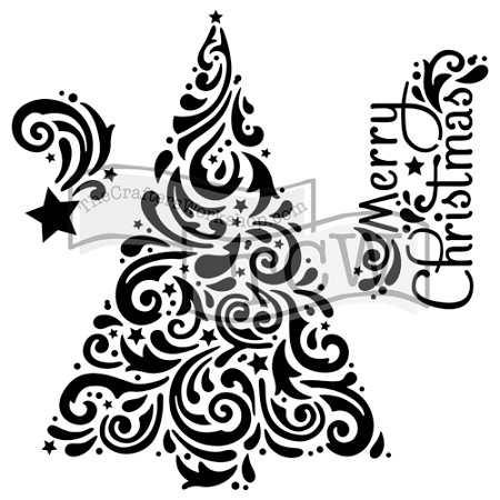 "The Crafter's Workshop 12""x12"" Stencil - Christmas Tree"