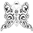 "Crafter's Workshop Templates 12""x12"" Butterfly"