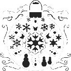"Crafter's Workshop Templates 12""x12"" Snowflake"