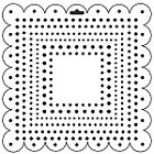"*Crafter's Workshop Templates 12""x12"" Square Dots"