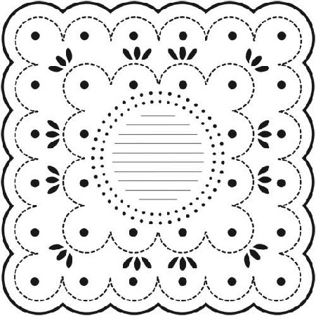 "Crafter's Workshop Templates 12""x12"" Dotted Scallop"