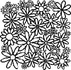 "Crafter's Workshop Templates 12""x12"" Daisy Cluster"