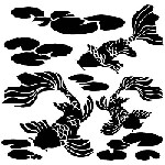 "The Crafter's Workshop 12""x12"" Stencil -  Koi Pond"