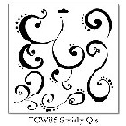 "*Crafter's Workshop Templates 12""x12"" Swirly Q"