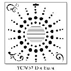 "*Crafter's Workshop Templates 12""x12"" Dot Burst"