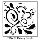 "*Crafter's Workshop Templates 12""x12"" Paisly Swirl"