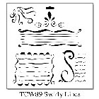 "*Crafter's Workshop Templates 12""x12"" Swirly Lines"