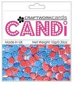 Candi Embellishments - Polka Dots - Berry Bliss