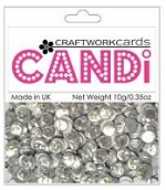 Candi Embellishments - Metallic - Crushed Ice