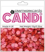 Craftworkcards - Candi Embellishments - Berry Crush