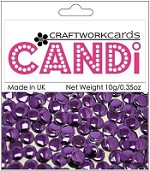 Craftworkcards - Candi Embellishments - Regal Amethyst