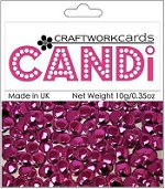 Craftworkcards - Candi Embellishments - Regal Garnet