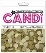 Candi Embellishments - Textured Gold