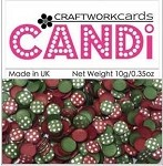 Candi Embellishments - Vintage Berries Silver