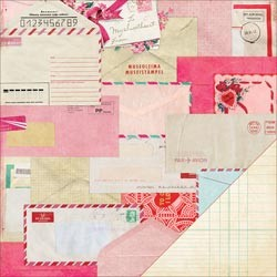 "Crate Paper - Fourteen Collection - 12""x12"" Double Sided Cardstock - Valentine"