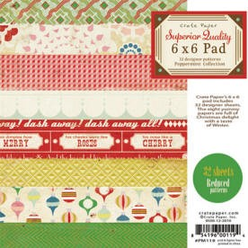 Crate Paper-Peppermint Collection-6x6 Paper Pad