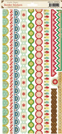 Crate Paper-Peppermint Collection-Border Stickers