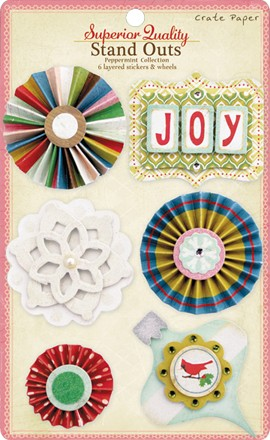 Crate Paper-Peppermint Collection-Standouts Layered Stickers
