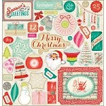 Crate Paper - Sleigh Ride Collection - 12x12 Chipboard Accents Stickers