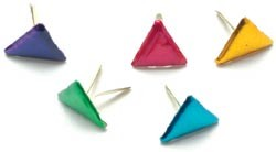 Creative Impressions-Brads-metallic triangles 50/box