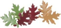 Creative Impressions-Brads-autumn oak leaves 25/box