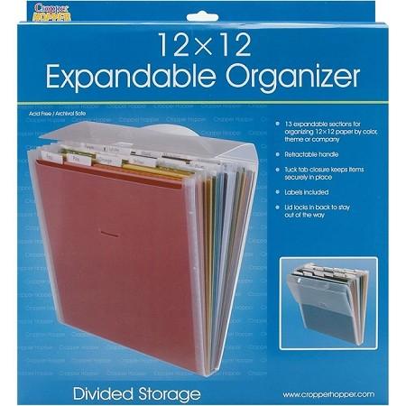 cropper hopper expandable paper organizer 12x12. Black Bedroom Furniture Sets. Home Design Ideas