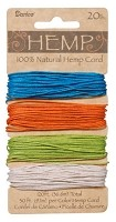 Darice-Hemp Cord-20# Bright - (30 feet each of 4 colors)