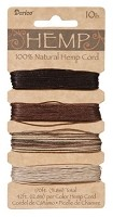 Darice-Hemp Cord-10# Earth (42 feet each of 4 colors)
